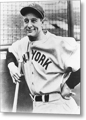 Portrait Of Lou Gehrig Metal Print