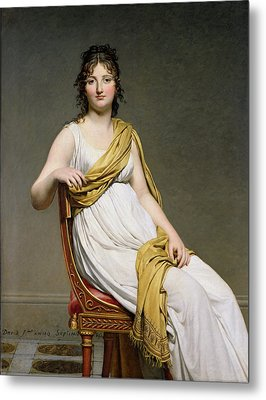 Portrait Of Madame Raymond De Verninac Metal Print by Jacques Louis David