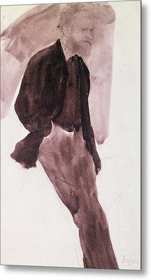 Portrait Of Manet Metal Print by Edgar Degas
