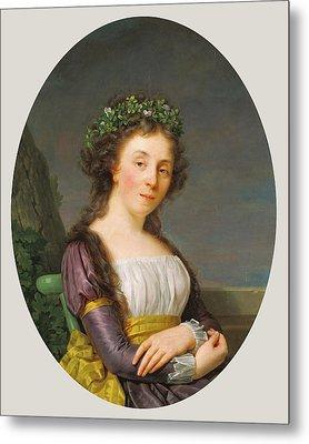 Portrait Of Marie-louise Joubert, Neé Poulletier De Metal Print