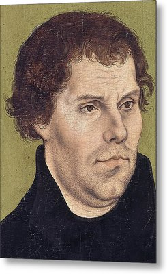 Portrait Of Martin Luther Aged 43 Metal Print by Lucas Cranach