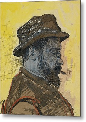 Portrait Of Maximilien Luce Metal Print by Paul Signac