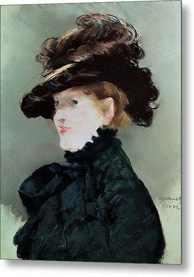 Portrait Of Mery Laurent 1849-1900 1882 Pastel On Paper Metal Print by Edouard Manet