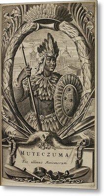 Portrait Of Montezuma II Metal Print by British Library