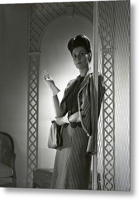 Portrait Of Mrs. Michael Arlen Metal Print by Horst P. Horst