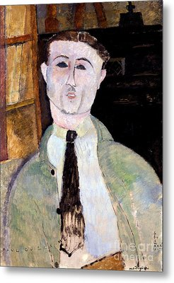 Portrait Of Paul Guillaume Metal Print by Amedeo Modigliani