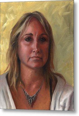 Portrait Of Paula Metal Print by Terri  Meyer