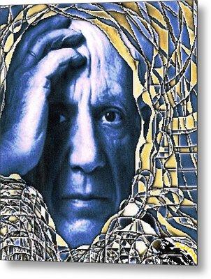 Portrait Of Picasso Metal Print