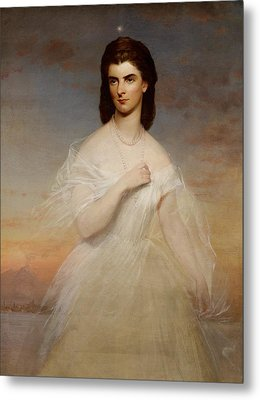 Portrait Of Queen Maria Sophia Of Naples Metal Print by Franz Xaver Winterhalter