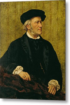 Portrait Of Richard Wagner Metal Print by Giuseppe Tivoli