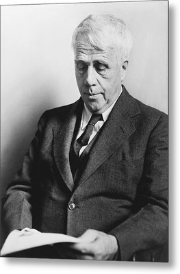 Portrait Of Robert Frost Metal Print by Fred Palumbo
