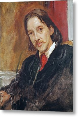 Portrait Of Robert Louis Stevenson Metal Print by Sir William Blake Richomond