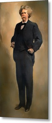 Portrait Of Samuel L Clemons - Mark Twain Metal Print