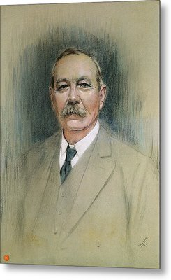 Portrait Of Sir Arthur Conan Doyle  Metal Print by William Henry Gates