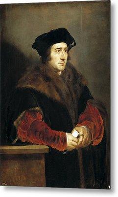Portrait Of Sir Thomas More Metal Print by Peter Paul Rubens