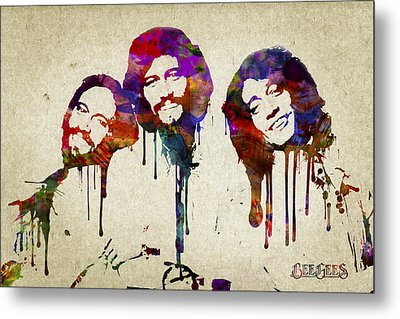 Portrait Of The Bee Gees Metal Print by Aged Pixel