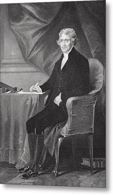 Portrait Of Thomas Jefferson Metal Print by Alonzo Chappel