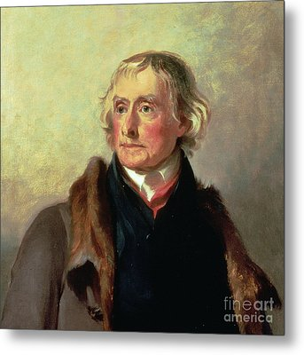 Portrait Of Thomas Jefferson Metal Print by Thomas Sully