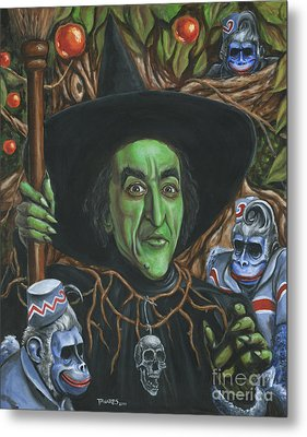 Portrait Of Wickedness Metal Print by Mark Tavares