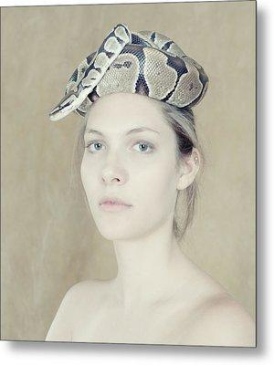 Portrait With The Snake Metal Print by Zina Zinchik