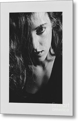 Metal Print featuring the photograph Portrait Woman by Jeepee Aero