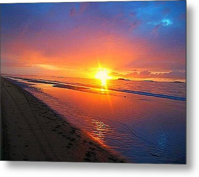 Portrush Sunset Metal Print by Tara Potts