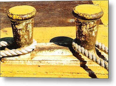 Metal Print featuring the photograph Portside  Yellow by Michael Hoard