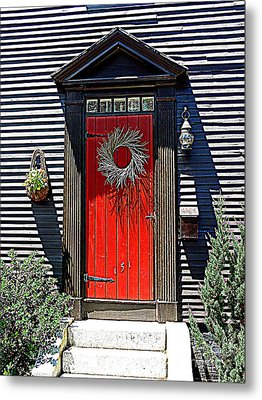 Portsmouth Door 2 Metal Print by Kevin Fortier