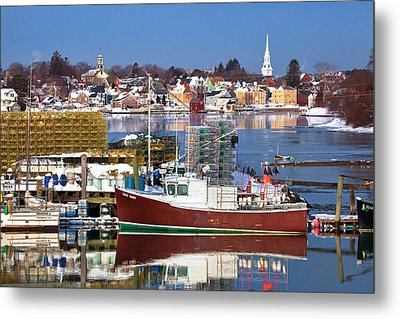 Portsmouth Lobster Boat Metal Print by Eric Gendron