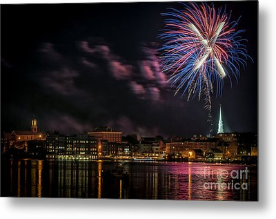 Portsmouth Nh Fireworks 2013 Metal Print by Scott Thorp