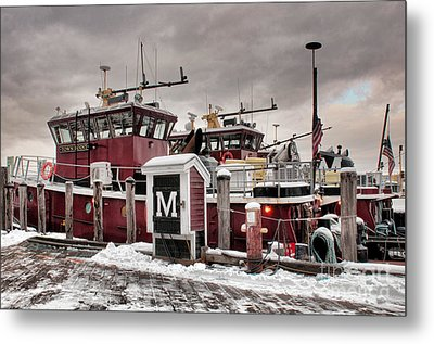 Portsmouth Tugboats Metal Print by Sharon Seaward