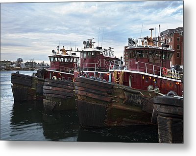 Portsmouth Tugs Metal Print