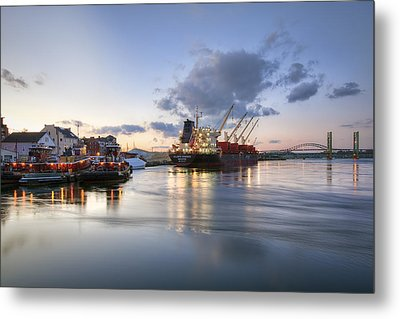Portsmouth Waterfront Metal Print by Eric Gendron