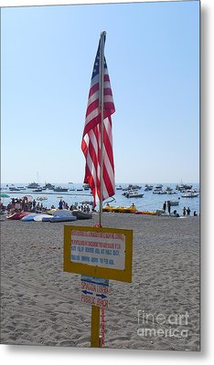 Metal Print featuring the photograph Positano - American Flag  by Nora Boghossian