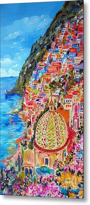 Positano Pearl Of The Amalfi Coast Metal Print