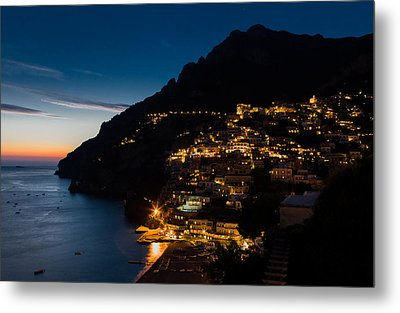 Metal Print featuring the photograph Positano Sunset by Carl Amoth