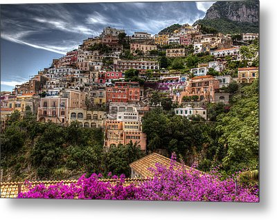 Metal Print featuring the photograph Positano by Uri Baruch