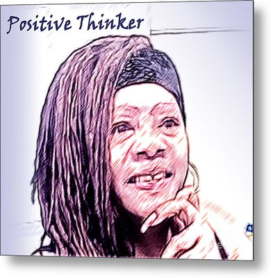 Positive Thinker Pastel Metal Print
