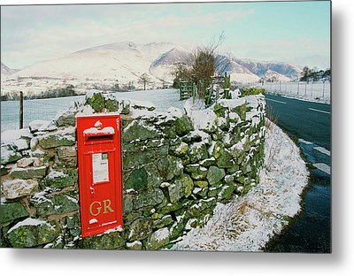 Post Box In St Johns In The Vale Metal Print by Ashley Cooper