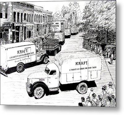Post War Parade Bentonville Arkansas Metal Print by Ron Enderland