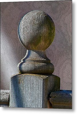 Metal Print featuring the photograph Post by WB Johnston