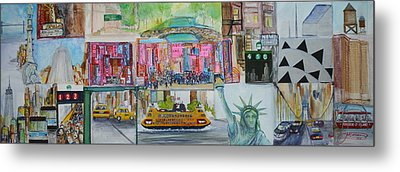 Postcards From New York City Metal Print