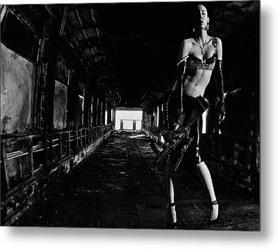 Posted Exacerbation Metal Print by Cecil K Brissette