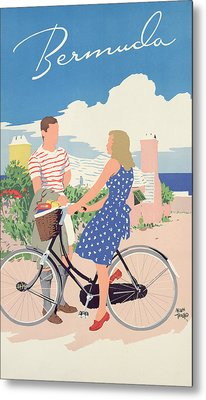 Poster Advertising Bermuda Metal Print by Adolph Treidler