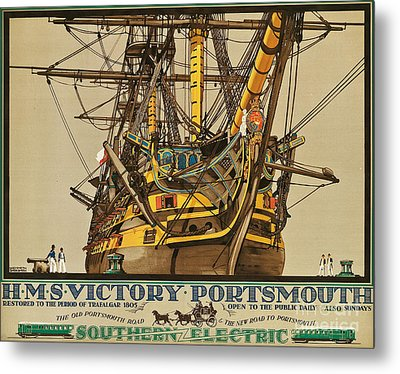 Poster Advertising Southern Electric Railways Metal Print