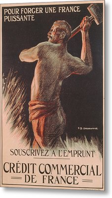 Poster Advertising The French National Loan Metal Print