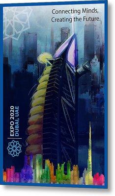 Poster Dubai Expo - 10 Metal Print