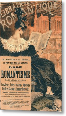 Poster For Librairie Romantique. Promoting The Book Lage Du Metal Print by Liszt Collection