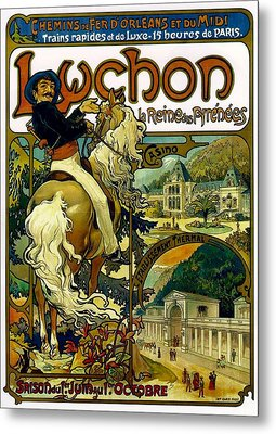 Poster For Trains To Luchon Metal Print
