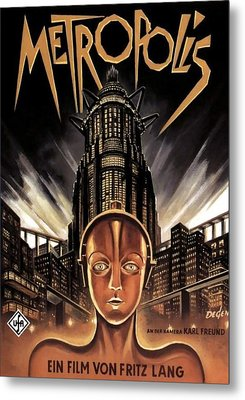 Poster From The Film Metropolis 1927 Metal Print by Anonymous